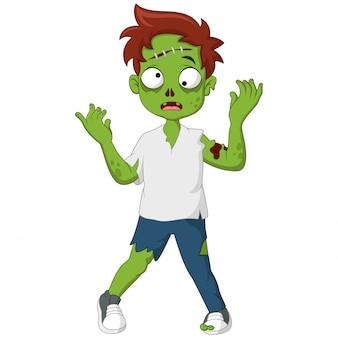 Carino zombie in piedi e camminando