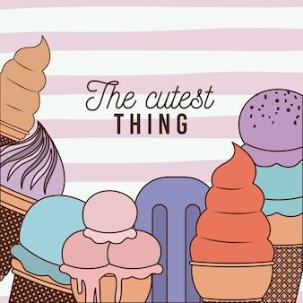 Il poster più carino con gelati