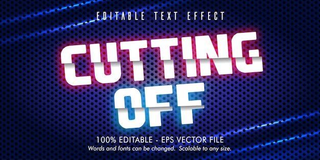 Tagliare il testo, ritagliare l'effetto di testo modificabile in stile