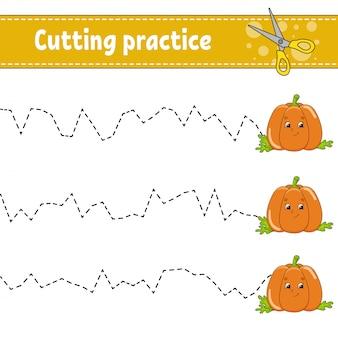 Pratica di taglio per bambini