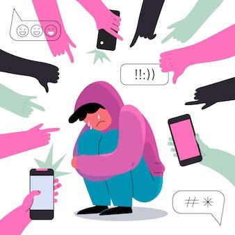 Concetto di cyber bullismo