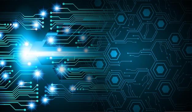 Fondo di concetto di tecnologia futura del circuito cyber