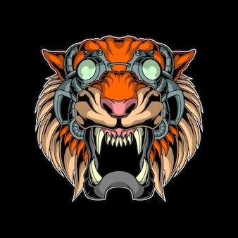 Tigre di cyber head