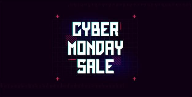 Modello pubblicitario di cyber monday banner per promo web e stampa illustrazione vettoriale eps10