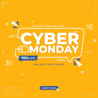 Concetto di design del cyber monday