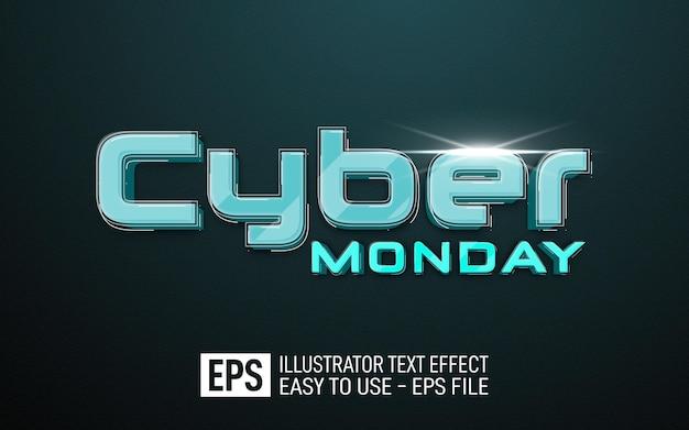 Modello di effetto stile modificabile cyber monday