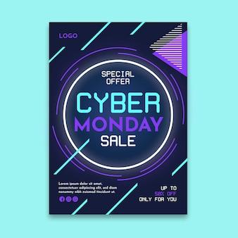 Cyber lunedì flyer a5 verticale