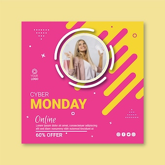 Cyber lunedì flyer square