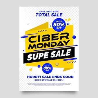 Tema di volantino di cyber lunedì