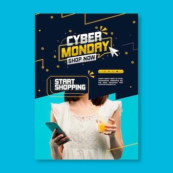 Volantino di cyber lunedì verticale
