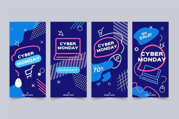 Raccolta di storie di instagram di cyber lunedì