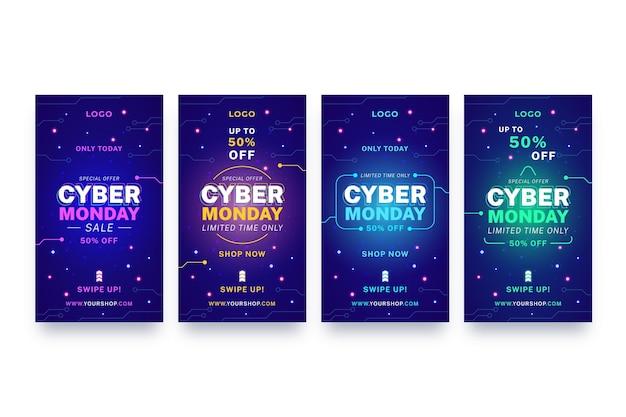 Storie di instagram di cyber lunedì
