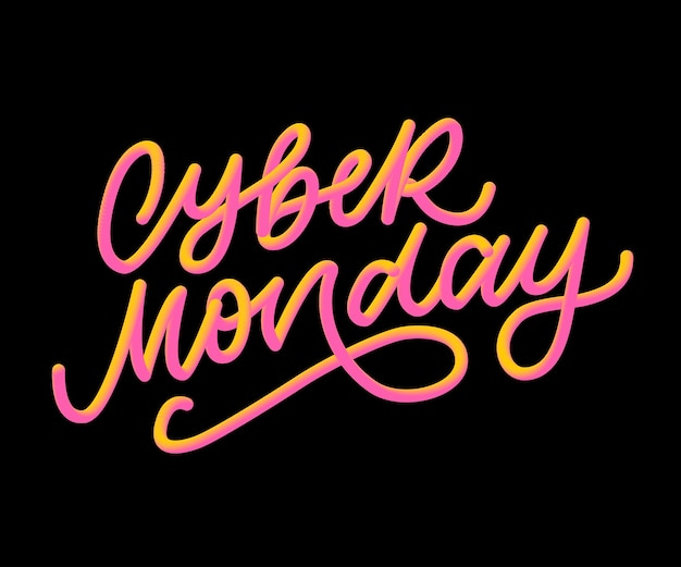 Cyber lunedì lettering calligrafia