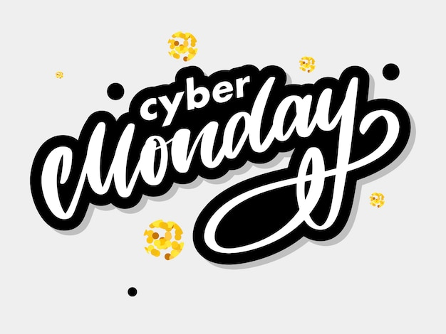 Cyber monday lettering