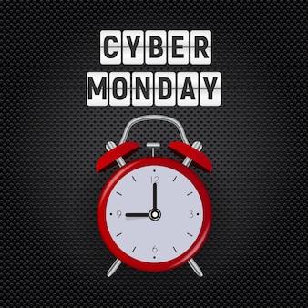 Sfondo di vendita di cyber monday.