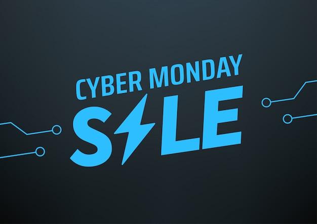 Banner di vendita di cyber lunedì. offerta stagionale