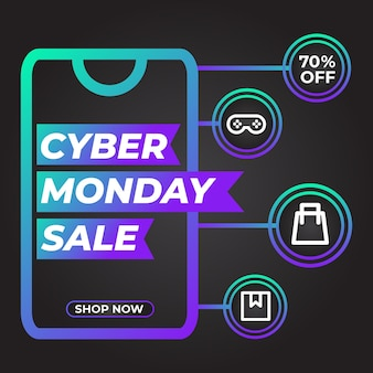 Promozione post social media vendita cyber lunedì