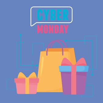 Cyber lunedì, shopping bag e confezioni regalo