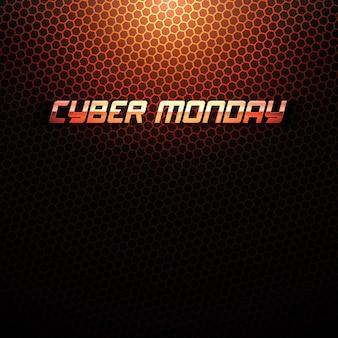 Sfondo tecnico del cyber monday