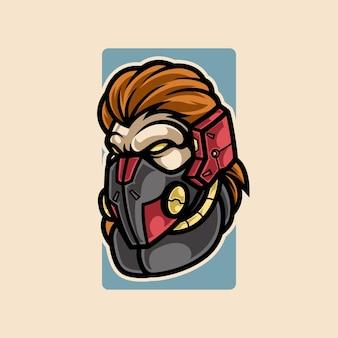 Logo mascotte sport cyber scimmia