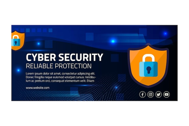Banner di sicurezza informatica