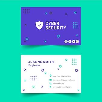 Modello di biglietto da visita di sicurezza informatica