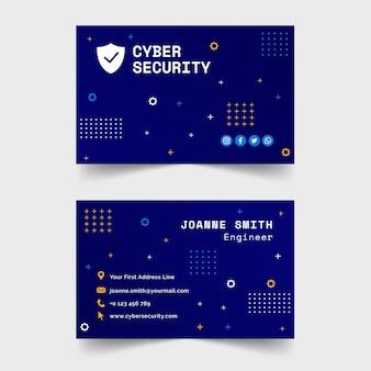 Modello di biglietto da visita per la sicurezza informatica