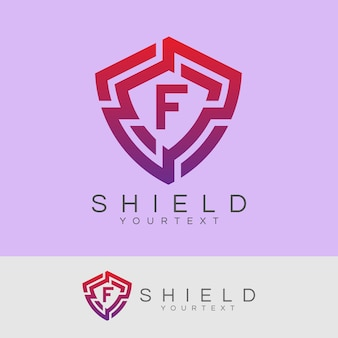 Cyber security iniziale lettera f logo design