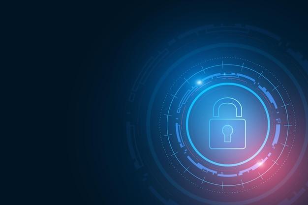 Sfondo di tecnologia di sicurezza informatica