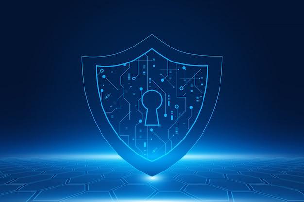 Concetto di tecnologia di sicurezza informatica