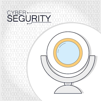 Tecnologia della webcam di sicurezza informatica
