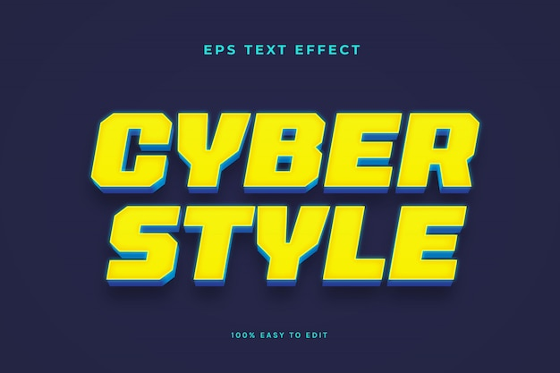 Effetto testo stile cibernetico