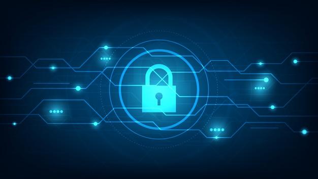 Sicurezza della tecnologia informatica, sfondo di protezione della rete