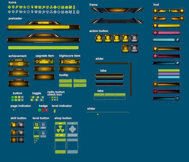 Cyber world game elements