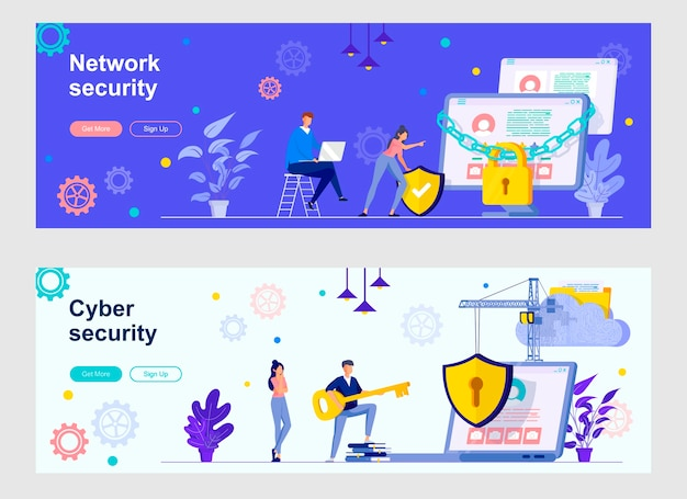Set di pagine di destinazione per la sicurezza informatica