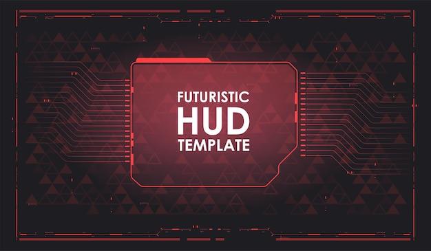 Cyberspazio realtà virtuale in hud, stile gui. sfondo futuristico dell'hud. modello di fantascienza. tecnologia del futuro. design ad alta tecnologia.
