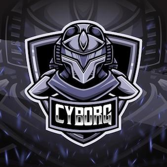 Icona personaggio logo cyborg esport