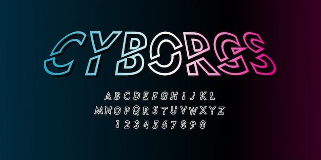 Cyborg futuristico stile di carattere cyberpunk nel pacchetto