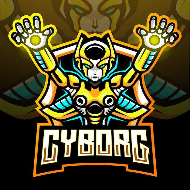 Mascotte cyborg. logo esport