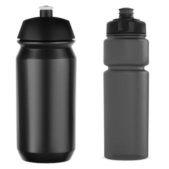 Ciclismo bottiglia sport bottiglia d'acqua mockup palestra può
