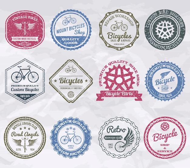 Francobolli di emblemi ciclistici