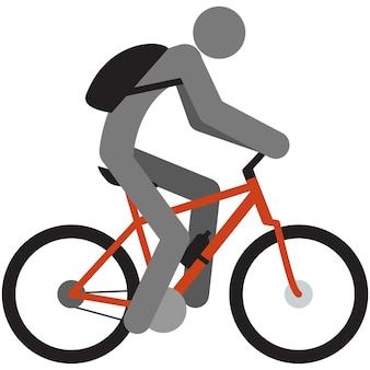 Ciclismo icona vettore uomo bici ciclista silhouette pittogramma