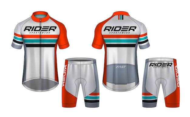 Scenografia della maglia da ciclismo