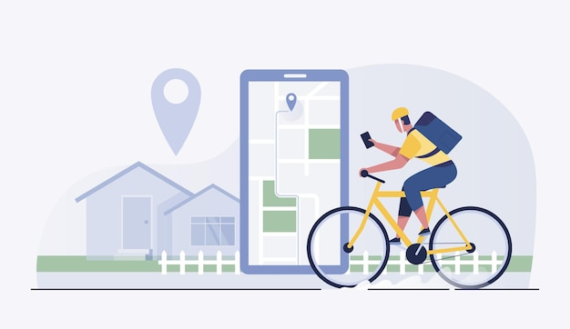 I ciclisti consegnano cibo ai clienti nei villaggi e nelle città.