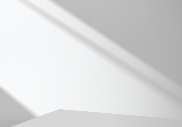 Cilindro astratto minimal scena con piattaforma geometrica. rendering 3d di vettore di sfondo estivo con podio. stand per mostrare prodotti cosmetici. vetrina scenica su piedistallo moderno studio bianco 3d