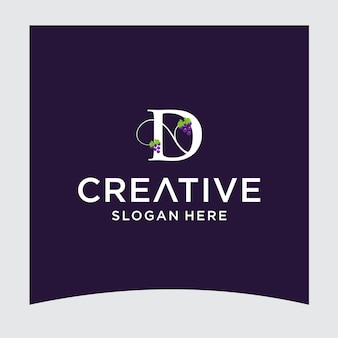 D uva logo design