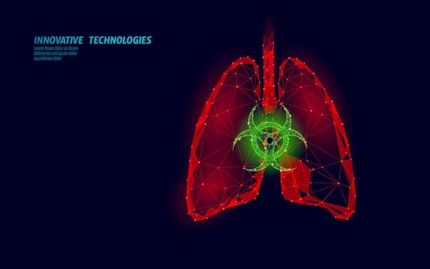 D polmoni umani medicina tossicità concetto di ricerca infezione da virus respiratorio cancro analisi del pericolo ...
