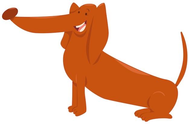 Personaggio dei cartoni animati cane bassotto