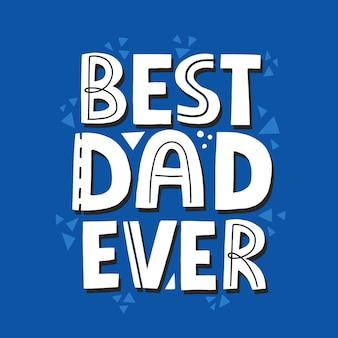 Papà sei la mia citazione da supereroe. iscrizione di vettore disegnato a mano. concetto di festa del papà felice per una carta, maglietta