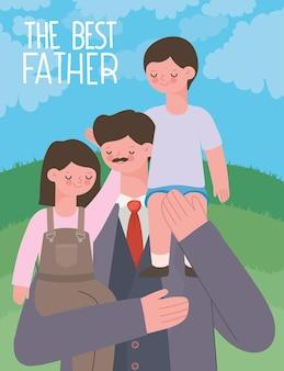 Cartello del giorno di papà